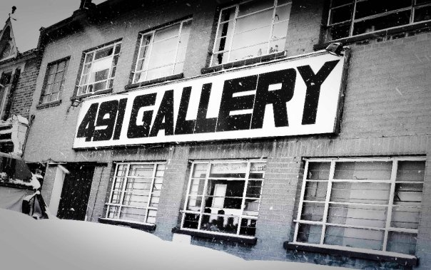Frontage of the 491 Gallery
